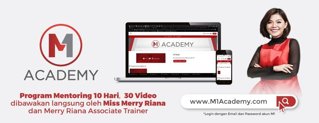 Mentoring untuk Fighters M1 (Reseller) juga akan diadakan pada platform M1 Academy